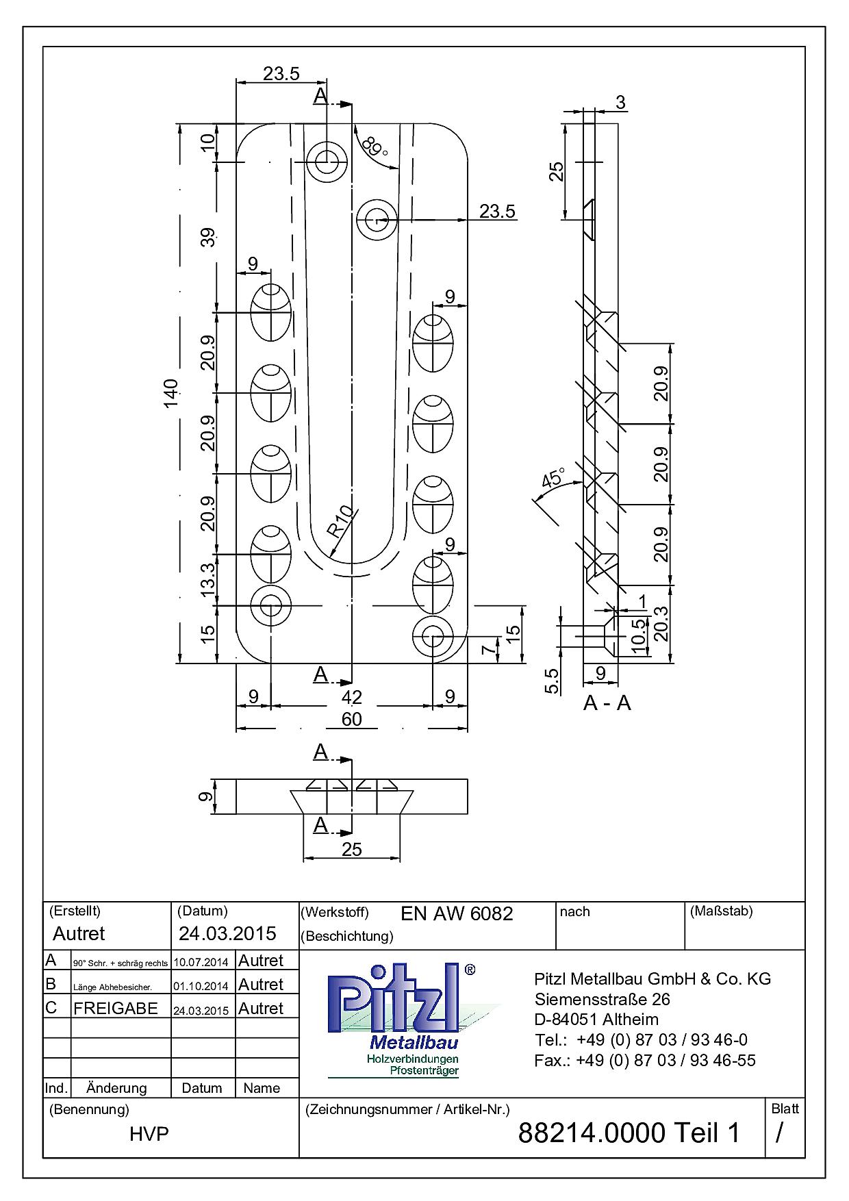 Conector//Ø = 16,67 x 21,03 x 26,59 mm//h = 25,4 mm